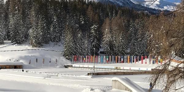 Schiessstände in der Biathlon Arena