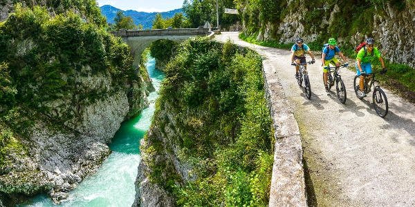 Cycling, Napoleon's Bridge across the Soča River