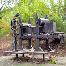 Detaildarstellung aus der Eisenindustrie