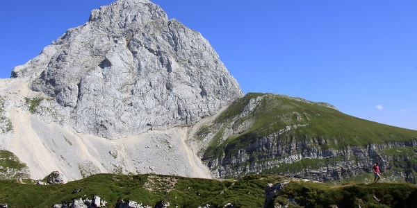 View of Mt. mangart from the Mangart Mountain pass