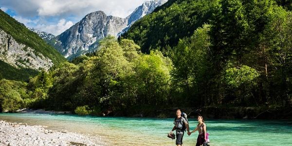 Reka Soča, Slovenija