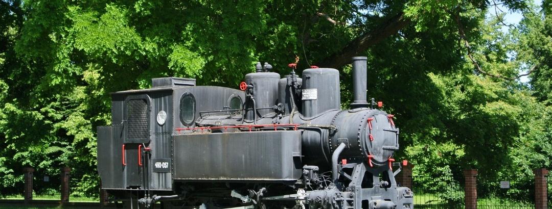 A nagycenki Mozdonyskanzen egyik mozdonya