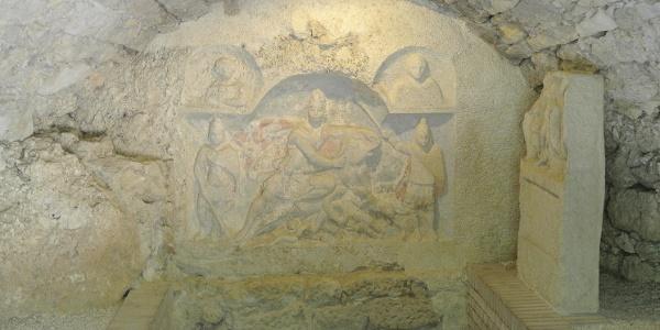 A Mithrász-szentély belseje