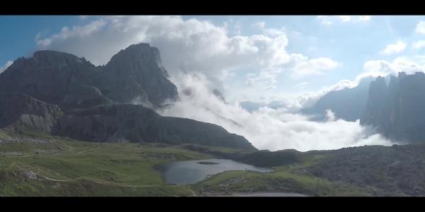 Aussicht von der Dreizinnenhütte