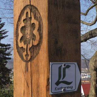 Lutherweg an der Lutherlinde Gera