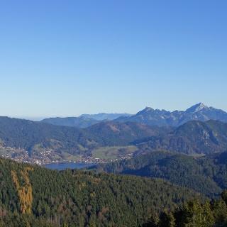 Blick zum Schliersee und zum Wendelstein
