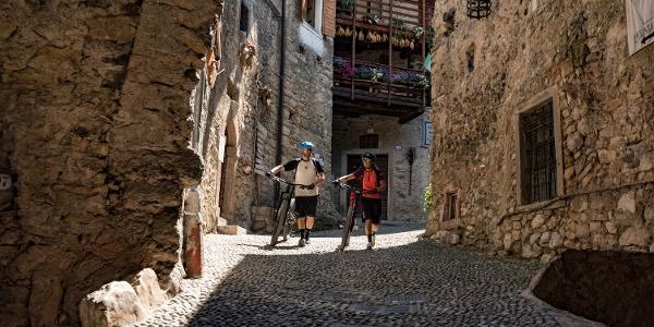 The medioeval village Canale di Tenno