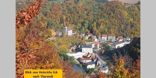Blick von Heinrichs Eck nach Tharandt