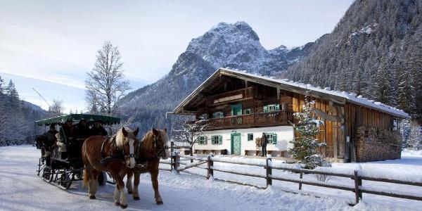 Pferdeschlittenfaht im Klausbachtal