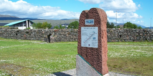 Startpunkt Great Glen Way am Old Fort in Fort William