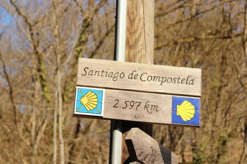 Señalización del Caminio de Santiago