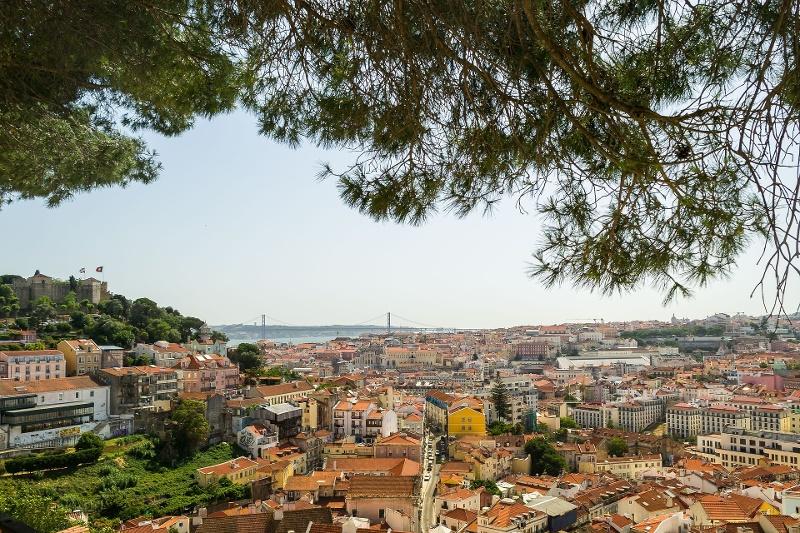 Vista de Lisboa desde arriba