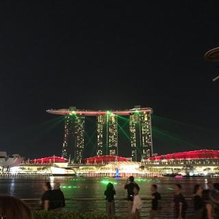 Light show Marina Bay Sands
