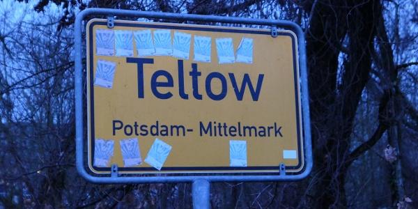 Ortsschild von Teltow