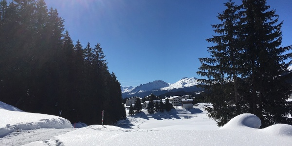 Blick auf Valbella