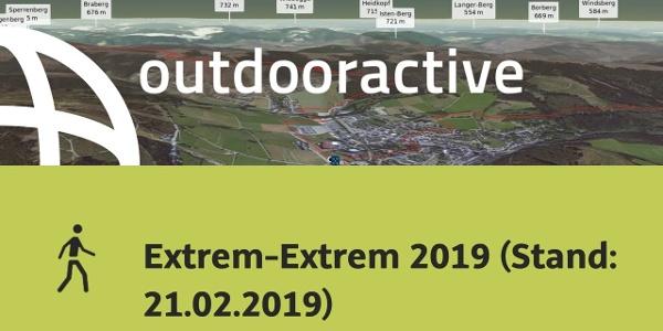 Wanderung im Sauerland: Extrem-Extrem 2019 (Stand: 21.02.2019)