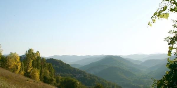 Blick vom Monte Acuto über Umbrien