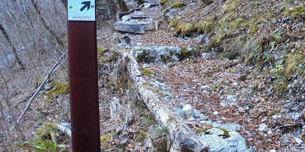 Soča Trail sign