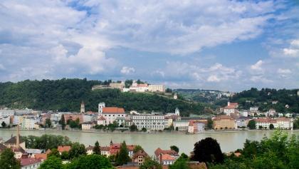 Blick auf die Veste Oberhaus über Passau