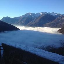 Sicht von Pianazzola im Winter