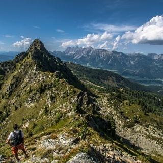 View over Krahbergzinken summit towards the Dachstein massif
