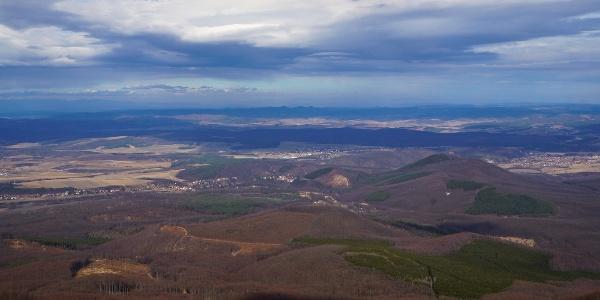 Az északra nyíló panoráma a Sas-kőről