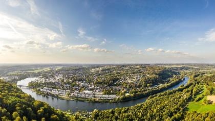 Ruhrtalblick auf Essen, Etappe 6 neanderland STEIG