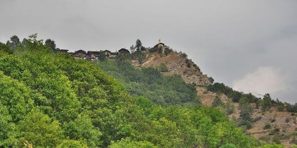 Im Aufstieg nach San Martino, das letzte Ziel der Tour