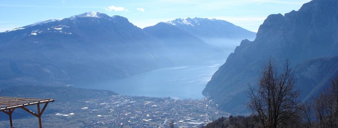 Blick von der Terrasse des Rifugio San Pietro