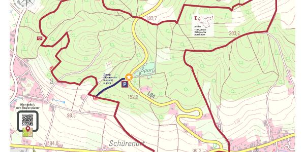 TERRA.track Oldendorfer Aussichten: Auszug Schautafel am Wanderparkplatz Reiterwaldstadion
