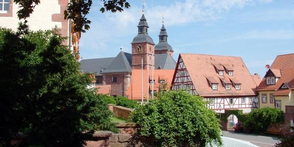 Stadt Walldürn mit Blick auf die Wallfahrtsbasilika