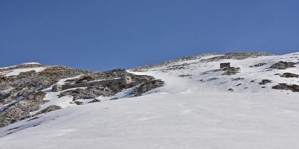 Globoko Mountain pass - view towards the bivoauc