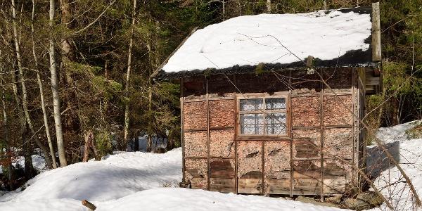 Hütte kurz vor der Abzweigung auf den Lusensteig