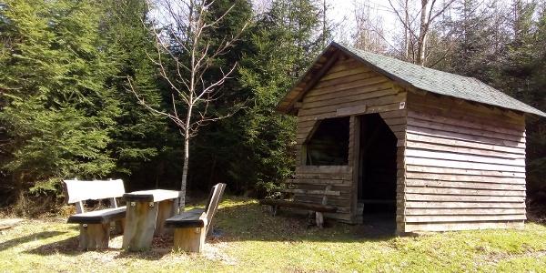 Schutzhütte in Oberkleinich