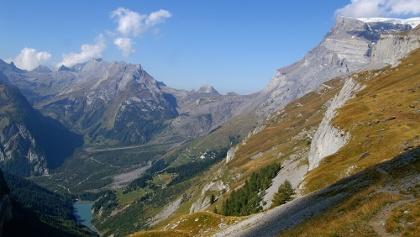 Blick ins Bergsturzgebiet von Derborence.