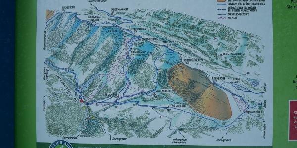Skiroutenplan auf den Seelekopf