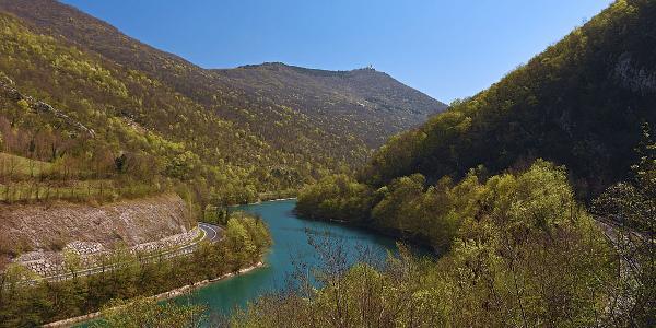 Soča river above Solkan