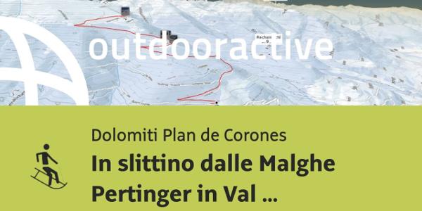 Slittinovia in Dolomiti Plan de Corones: In slittino dalle Malghe Pertinger in Val Pusteria