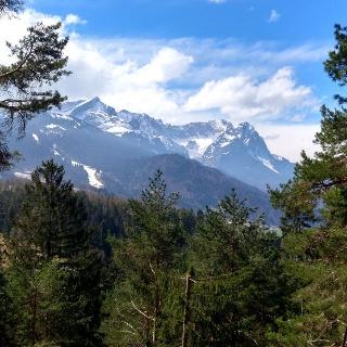 Blick auf Zugspitze
