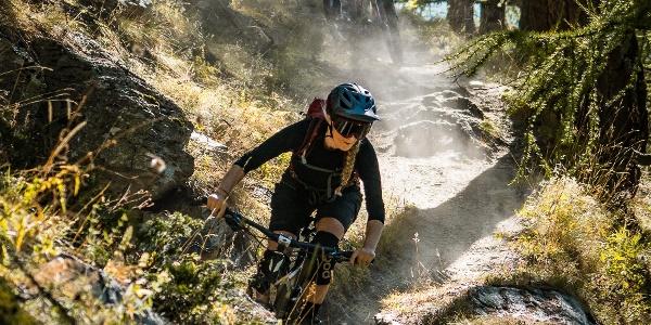 "Abstieg von bike Tour ""Moosalp Kalpetran Enduro"""