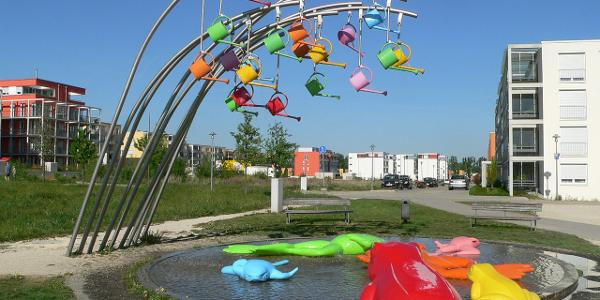'Froschwasserbrunnen' von Rosalie (Scharnhauser Park)