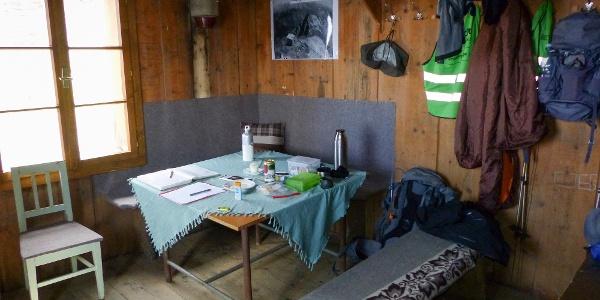 Sitzecke in der Böseckhütte