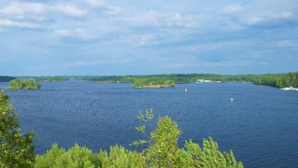 View to Lake Saimaa from Luukkaansalmi bridge