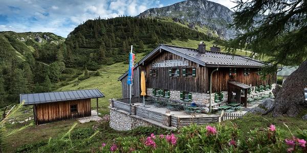 Das Schneibsteinhaus im Hagengebirge
