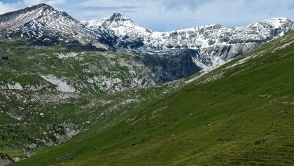 Panorama auf dem Weg von Naraus zum Segnesboden.