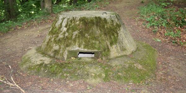 Bunkertető a Páka és Csömödér közti erdőben