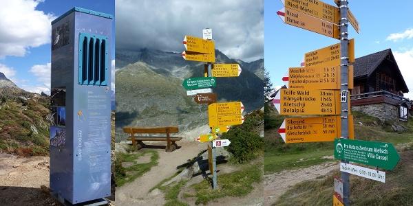 Themenweg Erlebnispfad (Gratweg) von der Moosfluh zur Riederfurka