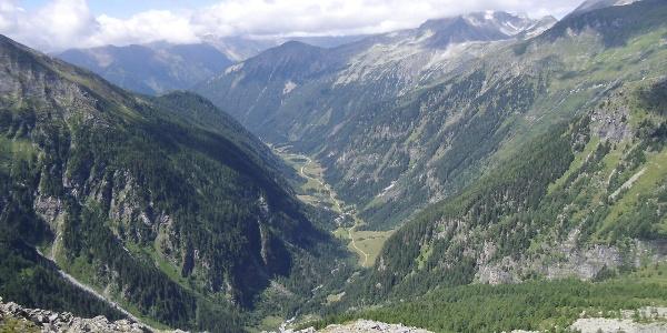 Blick von der Hütte ins Malnitzer Tal