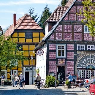 Müntestraße im historischen Ortskern