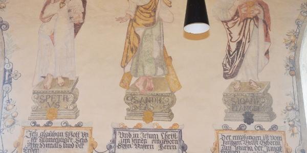 Weingartenkapelle Frickingen, Wandmalereien